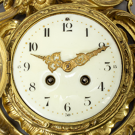 A japy frères louis xv-style wall clock, ca 1900.