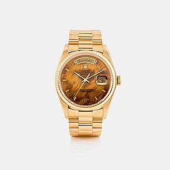 "9. ROLEX, Day-Date, ""Wood Dial""."