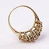 Sormus, 14k kultaa, timantteja n. 0.53 ct.