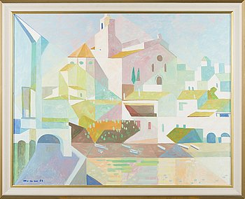 JACINT MORERA, oil on canvas, signed and dated -83.