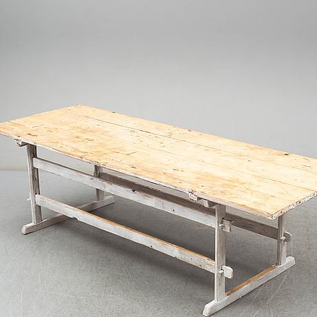 Bockbord, modern tillverkning, delvis äldre delar.