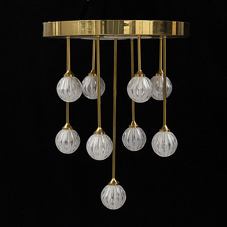 A christoph palme ceiling light, second half of the 20th century.