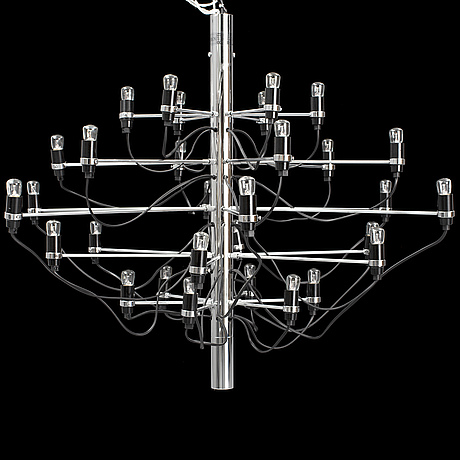Gino sarfatti, a model 2097-30 ceiling light, flos, italy.