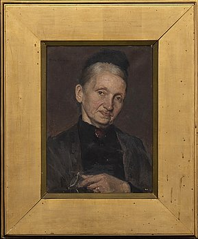 HANNA HIRSCH-PAULI, oil on canvas signed and dated 1886.