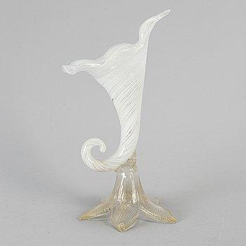 A Musano glass vase, Italy, mid 20th Century.
