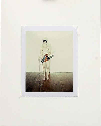 Annika von hausswolff, signed and dated polariod 2007.