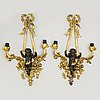 A pair of french wall lights, second half of the 19th century