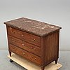 A late gustavian mahogany chest of drawers, sweden early 19th century