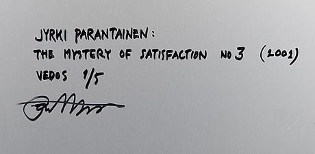 """Jyrki parantainen, """"themysteryofsatisfactionnono3""""."""