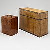 Two boxes with bottles, ca 1800 and 19th century