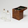 Two boxes with bottles, ca 1800 and 19th century.