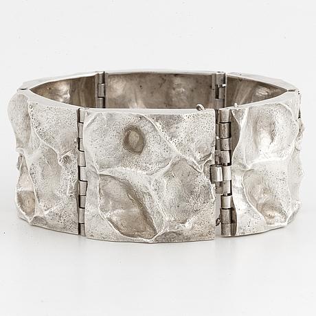 Matti j hyvärinen, sirokoru silver bracelet. Åbo 1976
