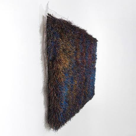 Ritva puotila, an art textile 'deep in the forest' signed ritva puotila woodnotes 2003.