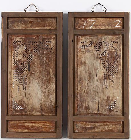 A pair of chinese screen doors, late 19th century.