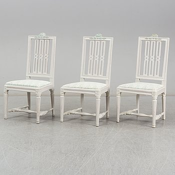 A pair of late Gustavian chairs by av Johan Hammarström (master in Stockholm 1794-1812).