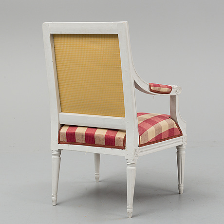 A gustavian armchair, late 18th century