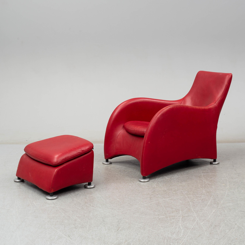 Fantastic Gerard Van Den Berg A Loge Leather Upholstered Easy Chair Dailytribune Chair Design For Home Dailytribuneorg