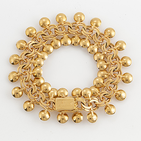 18k gold and pearl bracelet
