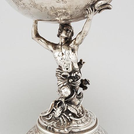 An art nouveau silver centre piece, germany, circa 1900