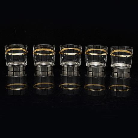 Gucci tumbler glasses, 5 pcs
