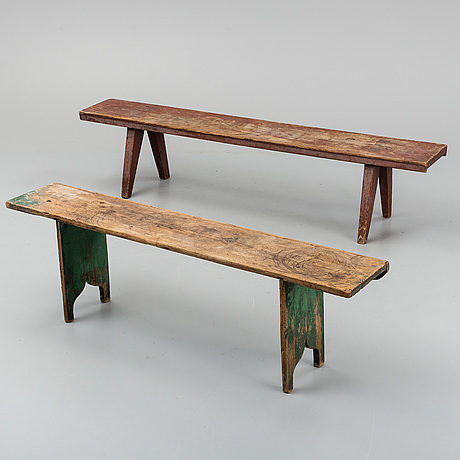 Two 19th century benches