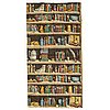 Piero fornasetti, 6 curtains, 'libreria'
