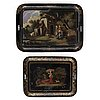 Two mid 19th century trays.
