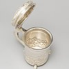 A silver baroque style tankard, second half of the 20th century