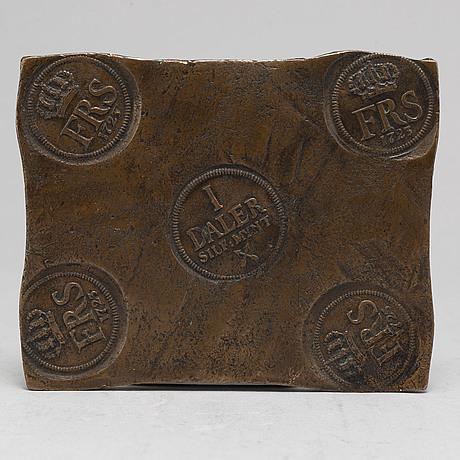 A swedish copper plate, 1 daler silvermynt, 1723.