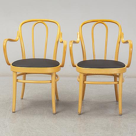 Six 'wien' bent wood armchairs from gemla, diö, 1980 2