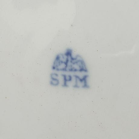 SkÅlfat, ett par, porslin, (spm schmeisser porzellan manufaktur), nyrokoko, 1800-tal.