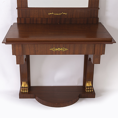 Spegel med konsolbord, empirestil, 1900-talets början.