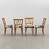 Carl malmsten, a set of 10 pyramid dining chairs