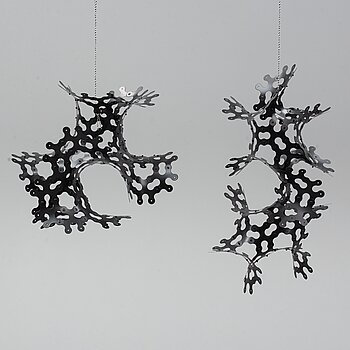 LARS ENGLUND, a pair of hanging sculptures, signed and dated 99.