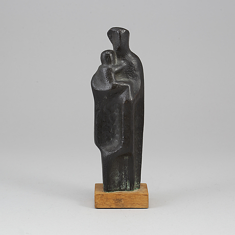 Thure thÖrn, a bronze dark patina, sculpture, signed tt and dated 54.