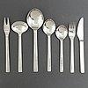 Henning koppel, a part 'new york' stainless steel cutlery, georg jensen living (28 pieces)