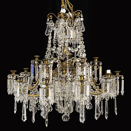 Ljuskrona, oscariansk stil, tidigt 1900-tal.
