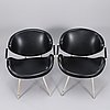 A pair of chairs by olof kettunen, manufacturer j. merivaara, finland, the mid 20th century