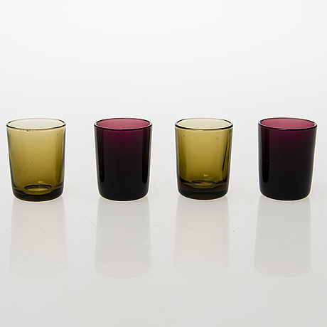 A set of 30 finnish mid 20th century drinking glasses by iittala and riihimäen lasi oy
