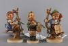 Figuriner, 3 st. porslin, hummel.