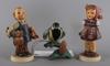 Figuriner, 2+1. porslin, hummel.