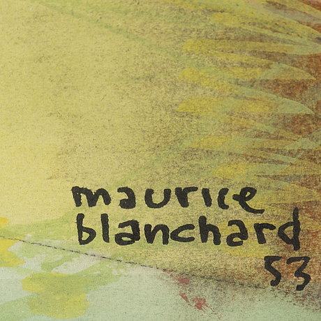 Maurice blanchard, pastel, signed and dated  53