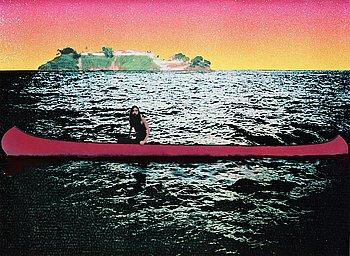 "344. Peter Doig, ""Canoe Island""."