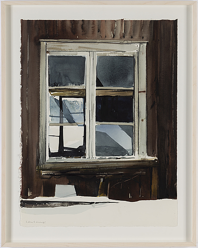 Lars lerin, watercolour, signed and dated -85.