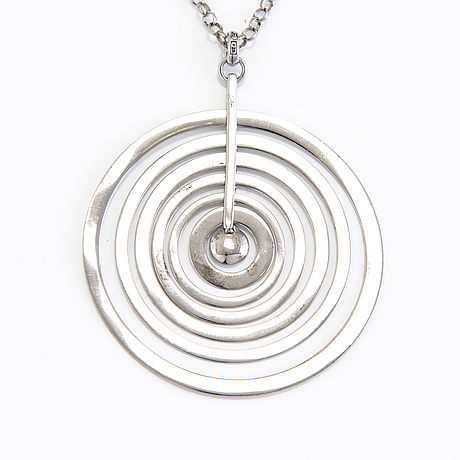 Tapio wirkkala, three silver necklaces, marks of kultakeskus, new production.