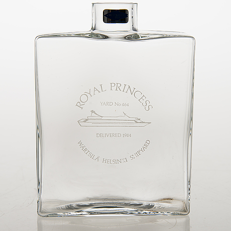 Kaj franck, pullo, lasia, signeerattu kaj franck nuutajärvi notsjö.