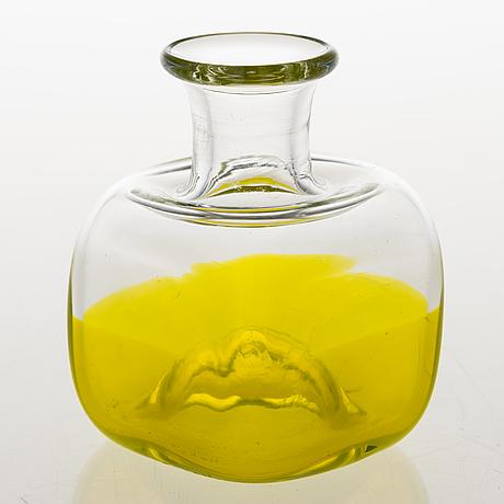 Helena tynell, flaska, glas, signerad riihimäen lasi oy helena tynell.