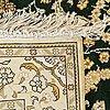 An old silk ghom ca 148 x 92 cm
