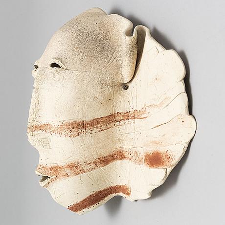 Nils gunnar zander, a stoneware wall sculpture, unsigned.