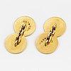 18k gold cufflinks